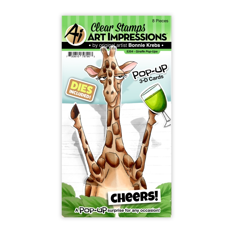 Art Impressions GIRAFFE POP-UPS Clear Stamps and Dies 5354 zoom image
