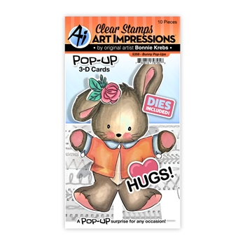 Art Impressions BUNNY POP-UPS Clear Stamps and Dies 5359