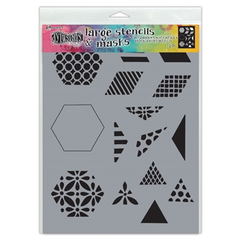 Dyan Reaveley Stencil 9 x 12 1.5 INCH QUILT Dylusions Ranger dys75349