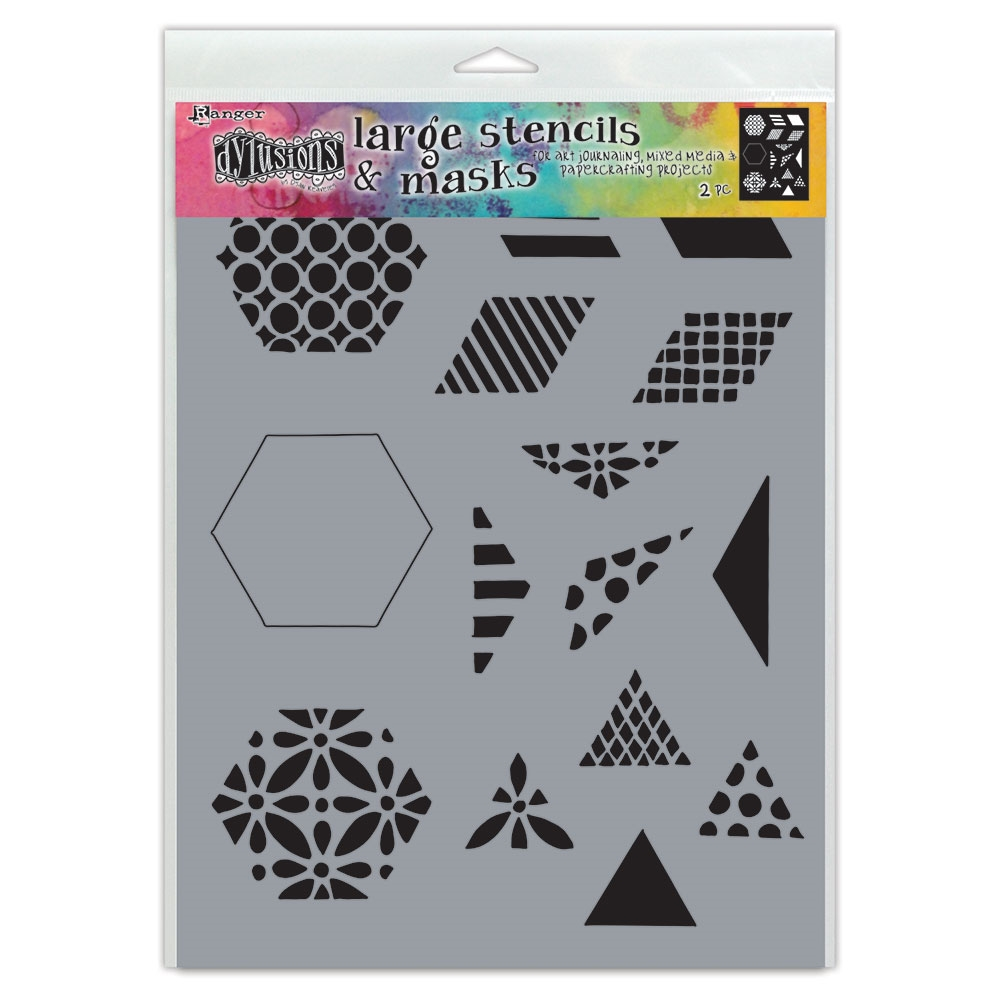 Dyan Reaveley Stencil 9 x 12 1.5 INCH QUILT Dylusions Ranger dys75349 zoom image