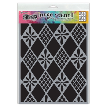 Dyan Reaveley Stencil 9 x 12 DIAMONDS ARE FOREVER Dylusions Ranger dys75318