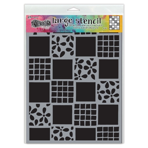 Dyan Reaveley Stencil 9 x 12 SQUARE DANCE Dylusions Ranger dys75325 Preview Image