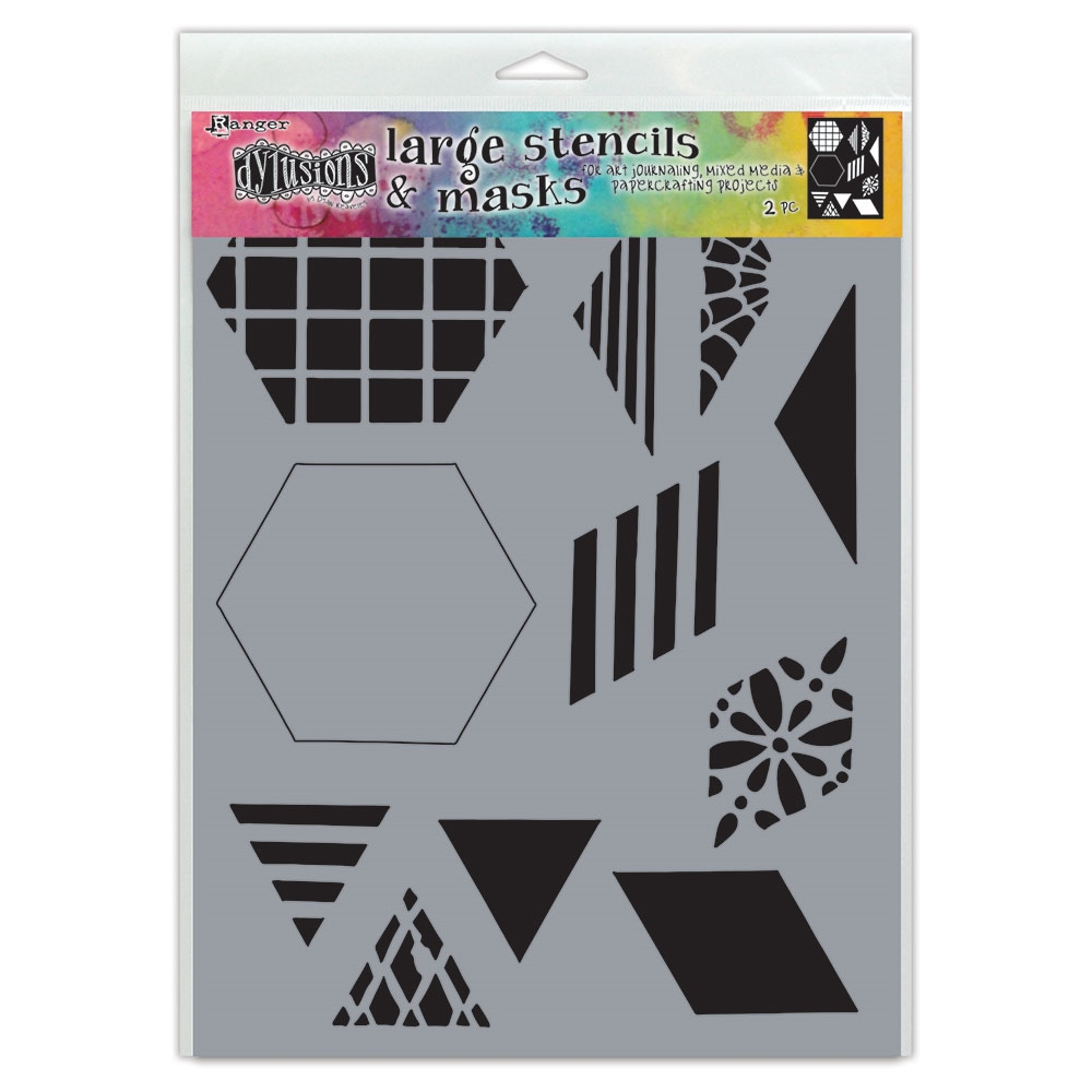 Dyan Reaveley Stencil 9 x 12 TWO INCH QUILT Dylusions Ranger dys75332 zoom image