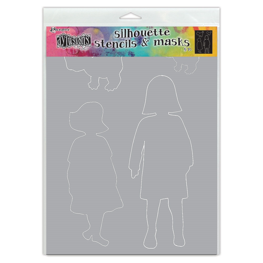 Dyan Reaveley Stencil 9 x 12 EDITH SILHOUETTE Dylusions Ranger dys75356 zoom image