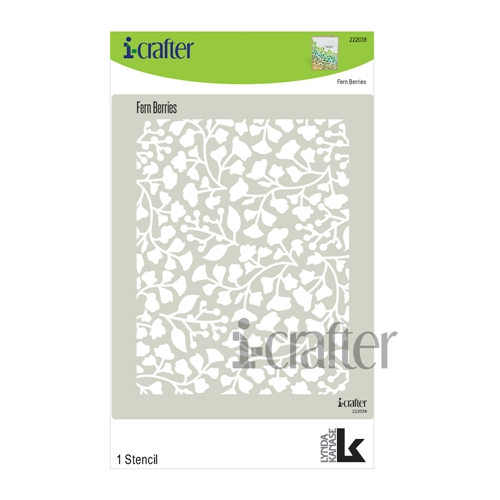i-Crafter FERN BERRY Stencil 222038 Preview Image