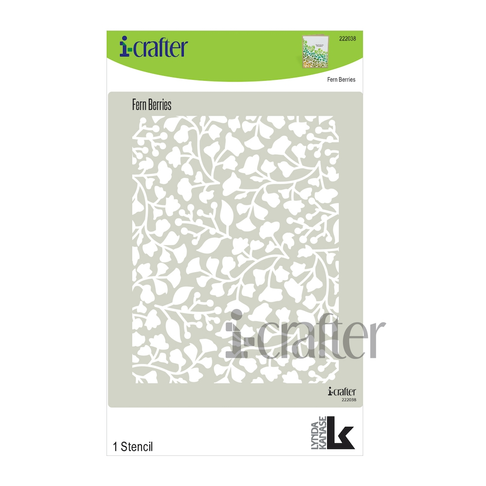 i-Crafter FERN BERRY Stencil 222038 zoom image