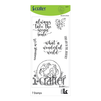i-Crafter WONDERFUL WORLD Clear Stamps 222111