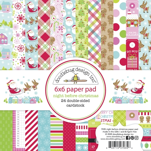 Doodlebug NIGHT BEFORE CHRISTMAS 6x6 Inch Paper Pad 7035 Preview Image