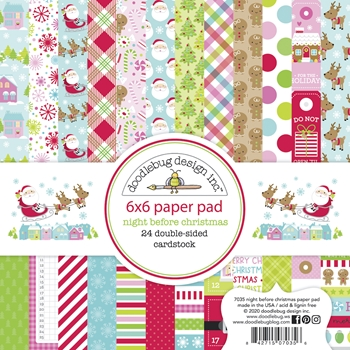 Doodlebug NIGHT BEFORE CHRISTMAS 6x6 Inch Paper Pad 7035