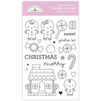 Doodlebug VISIONS OF SUGARPLUMS Doodle Clear Stamps 6980