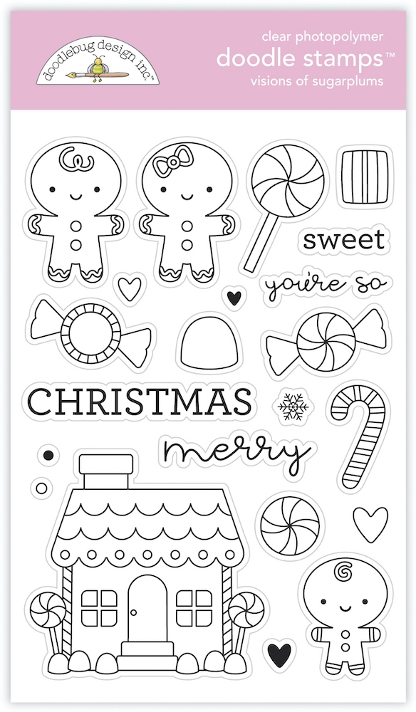 Doodlebug VISIONS OF SUGARPLUMS Doodle Clear Stamps 6980 zoom image