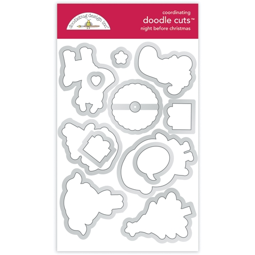 Doodlebug NIGHT BEFORE CHRISTMAS Doodle Die Cuts 6979 Preview Image
