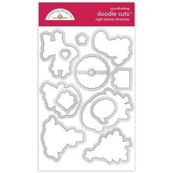 Doodlebug NIGHT BEFORE CHRISTMAS Doodle Die Cuts 6979