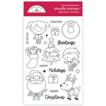 Doodlebug NIGHT BEFORE CHRISTMAS Clear Stamps 6978