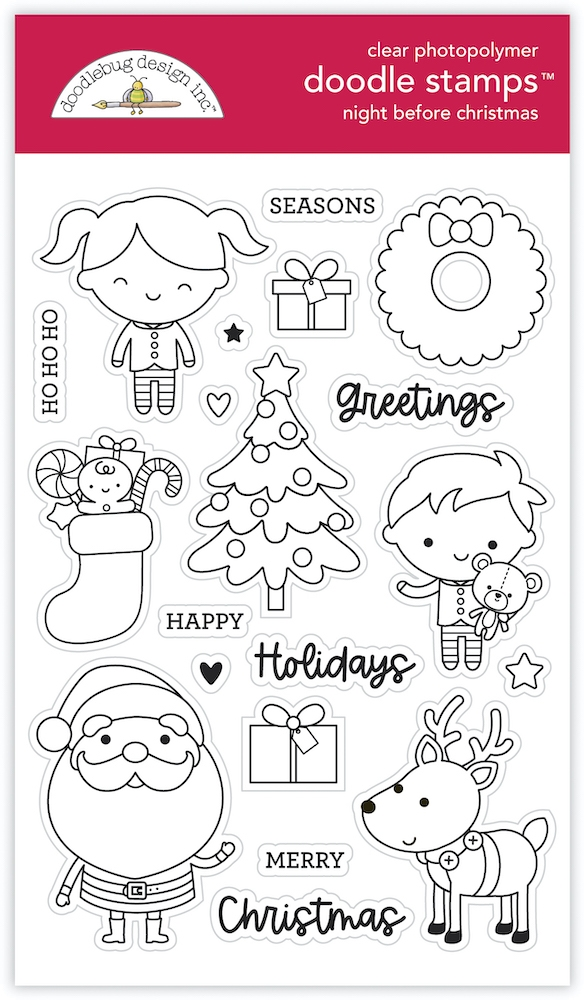 Doodlebug NIGHT BEFORE CHRISTMAS Clear Stamps 6978 zoom image