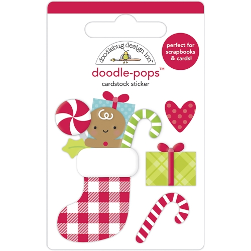 Doodlebug STOCKING STUFFERS Doodle Pops 3D Stickers 6968 Preview Image