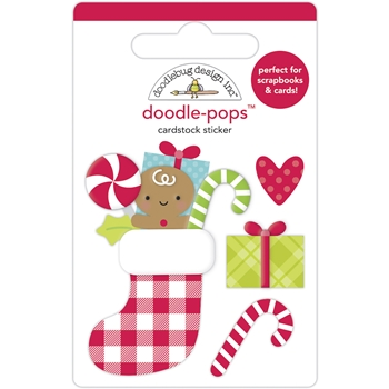 Doodlebug STOCKING STUFFERS Doodle Pops 3D Stickers 6968