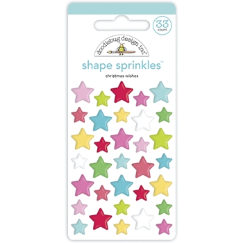 Doodlebug CHRISTMAS WISHES Shape Sprinkles 6944