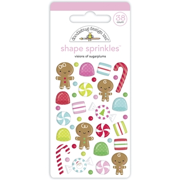 Doodlebug VISIONS OF SUGARPLUMS Shape Sprinkles 6943