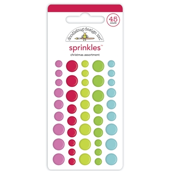 Doodlebug CHRISTMAS ASSORTMENT Enamel Dot Sprinkles 6941