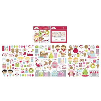 Doodlebug NIGHT BEFORE CHRISTMAS ODDS AND ENDS Ephemera Die Cut Shapes 6989