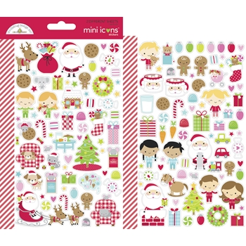 Doodlebug NIGHT BEFORE CHRISTMAS MINI ICONS Stickers 7049