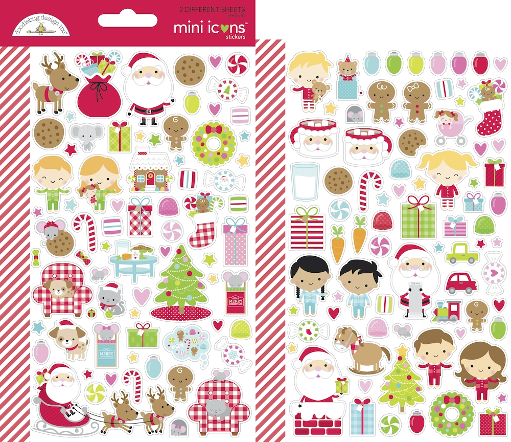 Doodlebug NIGHT BEFORE CHRISTMAS MINI ICONS Stickers 7049 zoom image
