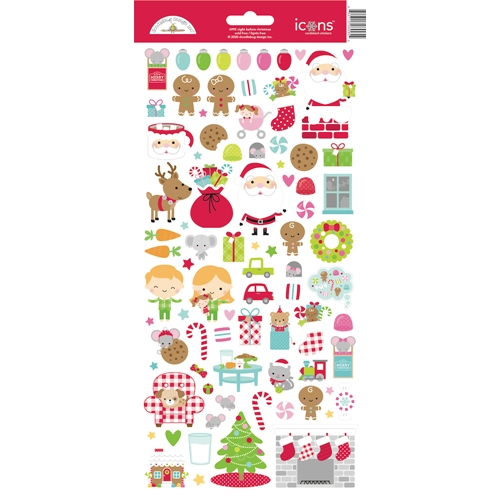 Doodlebug NIGHT BEFORE CHRISTMAS ICONS Cardstock Stickers 6995 Preview Image