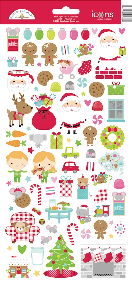 Doodlebug NIGHT BEFORE CHRISTMAS ICONS Cardstock Stickers 6995 zoom image
