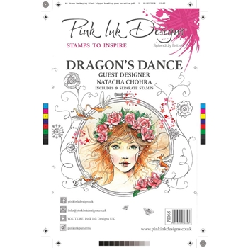 Pink Ink Designs DRAGON'S DANCE A5 Clear Stamps pi068