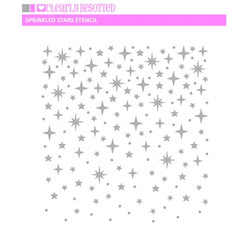 Clearly Besotted SPRINKLED STARS Stencil