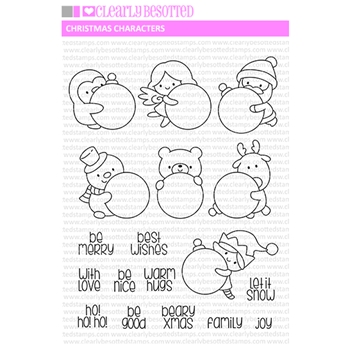 Clearly Besotted CHRISTMAS CHARACTERS Clear Stamps