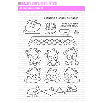 Clearly Besotted PRANCING PLUSHIES Clear Stamps