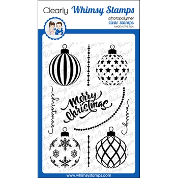 Whismy Stamps ELEGANT ORNAMENT Clear Stamps CWSD348