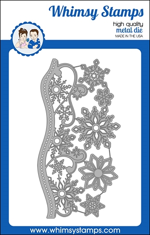 Whismy Stamps ELEGANT SNOWFLAKE AND BORDER Dies WSD501 Preview Image