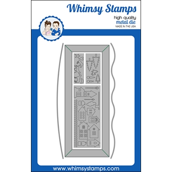 Whimsy Stamps SLIMLINE SCENIC COUNTRYSIDE Dies WSD502