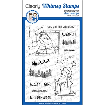 Whimsy Stamps MAGICAL WINTER Clear Stamps CWSD349