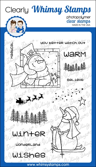 Whimsy Stamps MAGICAL WINTER Clear Stamps CWSD349 zoom image