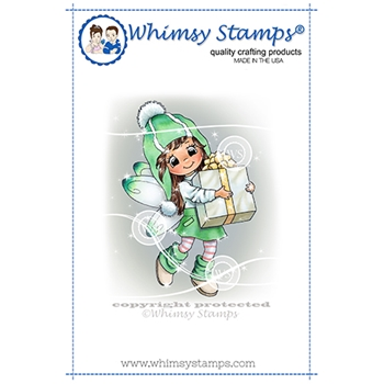 Whimsy Stamps FAIRY THOUGHTFUL Cling Stamp C1369