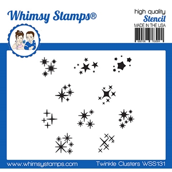 Whismy Stamps TWINKLE CLUSTER Stencil WSS131