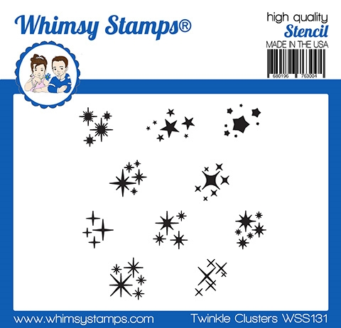 Whismy Stamps TWINKLE CLUSTER Stencil WSS131 zoom image
