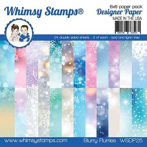 Whimsy Stamps Blurry Flurries 6x6 Paper Pack
