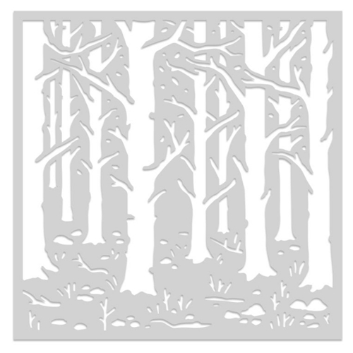 Hero Arts Stencil WOODLAND FOREST SA155 Preview Image