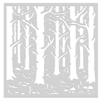 Hero Arts Stencil WOODLAND FOREST SA155