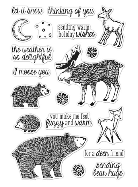 Hero Arts Clear Stamps FUZZY WINTER ANIMALS CM493 zoom image
