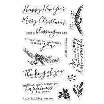 Hero Arts Clear Stamps HOLIDAY BLESSINGS CM492