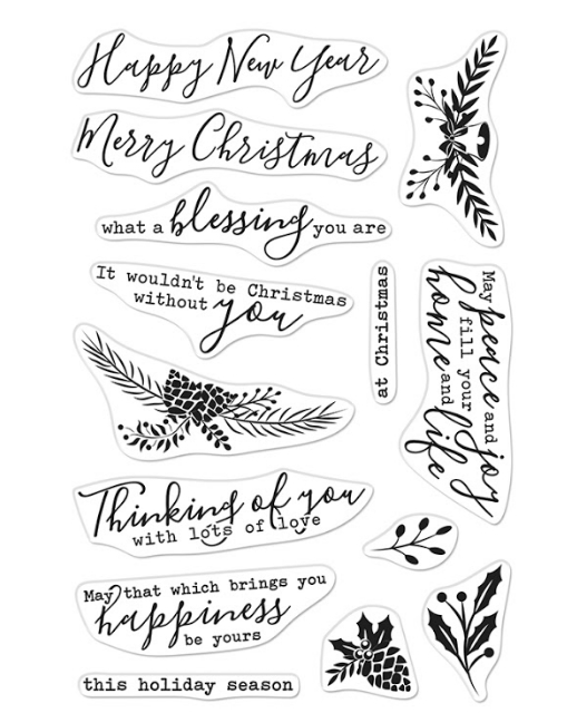 Hero Arts Clear Stamps HOLIDAY BLESSINGS CM492 zoom image