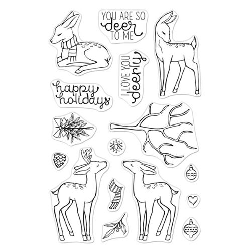 Hero Arts Clear Stamps LOVE YOU DEERLY CM489 Preview Image