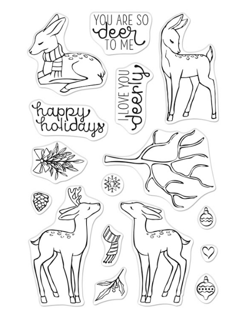 Hero Arts Clear Stamps LOVE YOU DEERLY CM489 zoom image