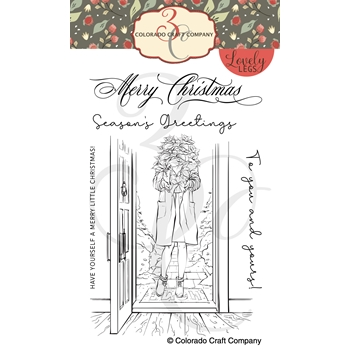 Colorado Craft Company Lovely Legs WINTER SEASON POINSETTIA Clear Stamps LL327